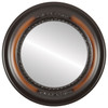 Flat Mirror - Boston Circle Frame - Walnut