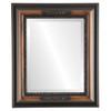 Beveled Mirror - Boston Rectangle Frame - Walnut