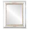 Flat Mirror - Boston Rectangle Frame - Silver Leaf with Brown Antique