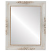 Flat Mirror - Versailles Rectangle Frame - Antique White