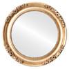 Flat Mirror - Versailles Circle Frame - Antique Gold Leaf
