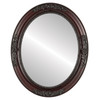 Flat Mirror - Versailles Oval Frame - Rosewood