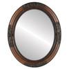 Flat Mirror - Versailles Oval Frame - Walnut