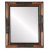 Flat Mirror - Versailles Rectangle Frame - Walnut