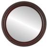 Flat Mirror - Santa Fe Circle Frame - Rosewood