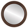 Flat Mirror - Santa Fe Circle Frame - Walnut