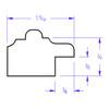 Santa Fe Rectangle - Profile Drawing