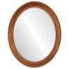 Beveled Mirror - Vancouver Oval Frame - Carmel