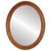 Flat Mirror - Vancouver Oval Frame - Carmel