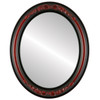 Flat Mirror - Florence Oval Frame - Vintage Cherry