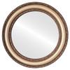 Flat Mirror - Dorset Circle Frame - Desert Gold