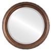 Beveled Mirror - Kensington Round Frame - Sunset Gold