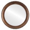 Flat Mirror - Kensington Circle Frame - Sunset Gold