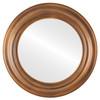 Flat Mirror - Lancaster Circle Frame - Sunset Gold