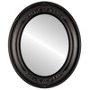 Flat Mirror - Winchester Oval Frame - Rubbed Bronze