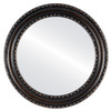 Flat Mirror - Dorset Circle Frame - Rubbed Bronze