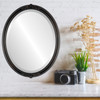 Flat Mirror - Contessa Oval Frame - Rubbed Bronze