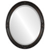 Beveled Mirror - Jefferson Oval Frame - Rubbed Bronze