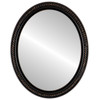 Flat Mirror - Santa Fe Oval Frame - Rubbed Bronze