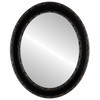 Flat Mirror - Monticello Oval Frame - Rubbed Bronze
