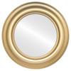 Flat Mirror - Lancaster Circle Frame - Desert Gold