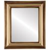 Flat Mirror - Lancaster Rectangle Frame - Desert Gold