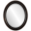 Beveled Mirror - Messina Oval Frame - Rubbed Bronze
