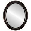 Flat Mirror - Messina Oval Frame - Rubbed Bronze