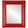 Flat Mirror - Lancaster Rectangle Frame - Holiday Red