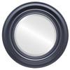 Beveled Mirror - Lancaster Round Frame - Matte Black