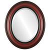 Beveled Mirror - Lancaster Oval Frame - Vintage Cherry