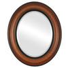 Beveled Mirror - Lancaster Oval Frame - Vintage Walnut