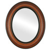 Flat Mirror - Lancaster Oval Frame - Vintage Walnut