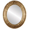 Flat Mirror - Winchester Oval Frame - Champagne Gold