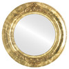 Flat Mirror - Winchester Circle Frame - Champagne Gold