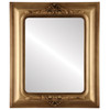 Flat Mirror - Winchester Rectangle Frame - Desert Gold
