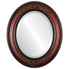 Beveled Mirror - Winchester Oval Frame - Vintage Cherry