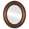 Flat Mirror - Winchester Oval Frame - Vintage Walnut