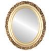 Flat Mirror - Venice Oval Frame - Gold Leaf