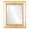 Beveled Mirror - Boston Rectangle Frame - Gold Leaf