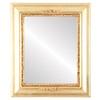 Flat Mirror - Boston Rectangle Frame - Gold Leaf