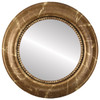 Flat Mirror - Heritage Round Frame - Champagne Gold