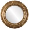 Beveled Mirror - Heritage Round Frame - Champagne Gold