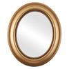 Flat Mirror - Heritage Oval Frame - Desert Gold