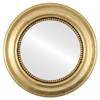 Flat Mirror - Heritage Round Frame - Gold Leaf
