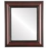 Flat Mirror - Heritage Rectangle Frame - Vintage Cherry