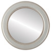 Non-Beveled Mirror - Wright Round Frame - Silver Shade