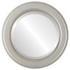 Beveled Mirror - Wright Round Frame - Silver Shade