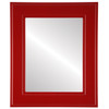 Flat Mirror - Montreal Rectangle Frame - Holiday Red