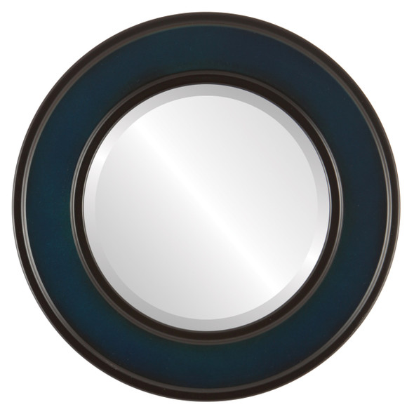 Beveled Mirror - Montreal Round Frame - Royal Blue
